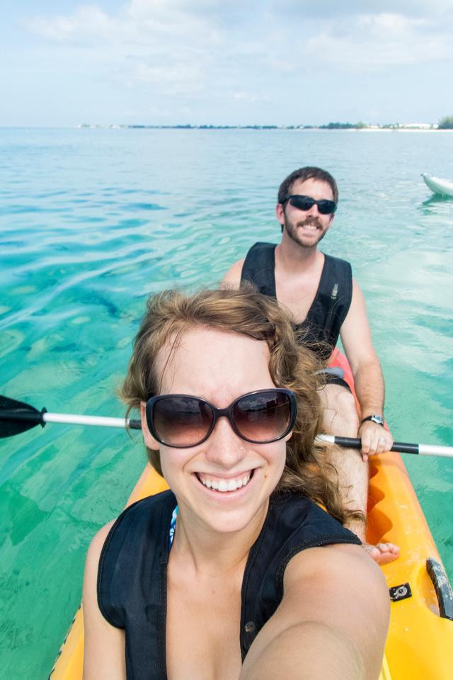 Selfie while kayaking
