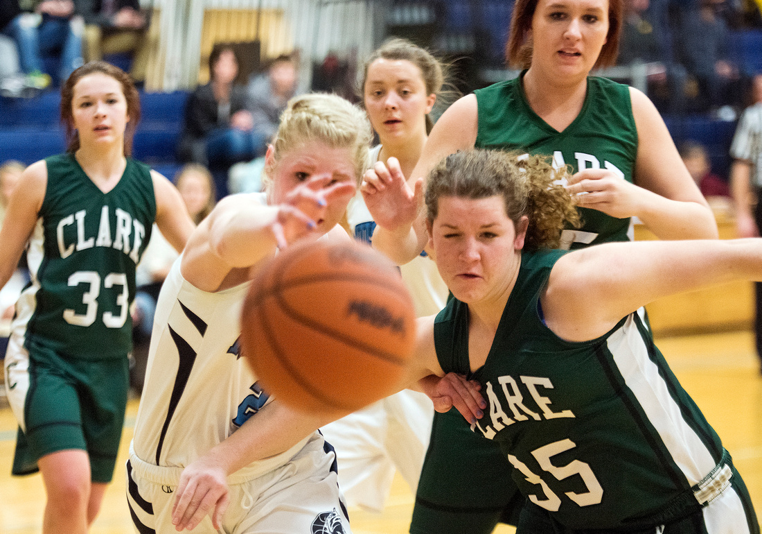 Meridian hosts Clare girls basketball
