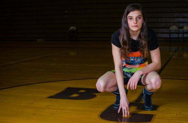 Meline Smith, a freshman at Bay City Central, will be traveling to Oklahoma next week to compete on the Michigan girls' wresting team in a national competition.  (Danielle McGrew | The Bay City Times)