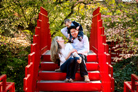 Family portraits at Dow Gardens
